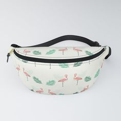 Pink Flamingo Seamless Tropical Pattern Fanny Pack by diana_ioana Chapstick Holder, Tropical Pattern, Pink Flamingos, Everyday Look, Fanny Pack, Diana, Rest, Packing, Comfy