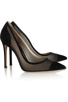 Gianvito RossiSuede and mesh pumps