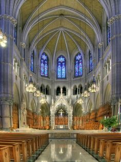 Basilica Cathedral of Sacred Heart - New Jersey USA - Interior Archicture is Amazing- A Work of Art