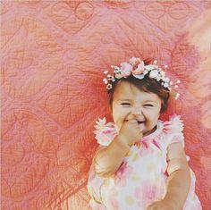 Dress. Pink. Flower crown. Boo. Alesyazubik