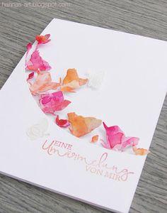 Hannas Art: Leuchtende Blüten Glockenblumen Die, Geschwungene Grüße-modern