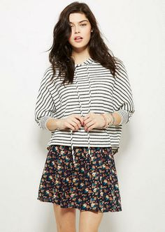 Printed Skater Skirt in Navy Floral - Skirts - Clothing - dELiA*s