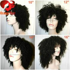 Cheap Price Natural Afro Wig Curly Virgin Mongolian Human Hair Afro Kinky Curly Lace Front Wigs 150Heavy Density For Black Women