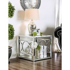 Shop for Furniture of America Mishie Contemporary Glass Top End Table. Get free shipping at Overstock.com - Your Online Furniture Outlet Store! Get 5% in rewards with Club O!