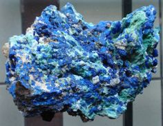Azurite (blue mineral) + Malachite (green mineral). What Nature creates in the best mineralogical laboratory on Earth : Lavrion , Attiki , Greece