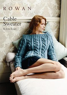 This glamorous, chunky cabled sweater is knitted in Rowan Big Wool and is available as a FREE download! | English Yarns   Designer: Erika Knight