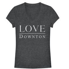 Downton Abbey Junior's - Love V Neck #downton #downtonabbey #pbs