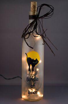 """Bottle of Boos"" - Cute #wine bottle craft!  Via Etsy."