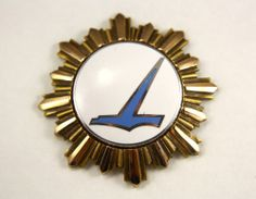 Eastern Airlines 1960s Flight Attendant Hat Badge RARE 6th Sixth Issue | eBay