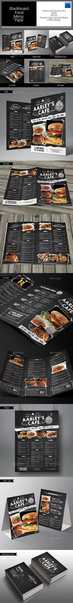 Blackboard Food Menu Bundle Template #design Download: http://graphicriver.net/item/blackboard-food-menu-bundle/11020267?ref=ksioks