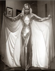 Katharine Hepburn in silver moth costume, Christopher Strong (1933)