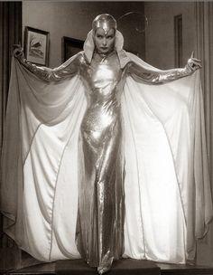 Katharine Hepburn in silver moth costume,Christopher Strong (1933)