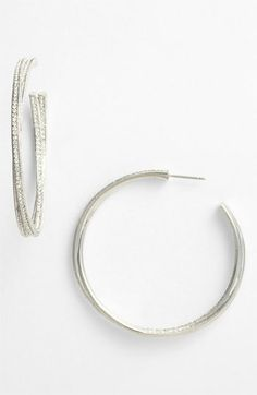 Nadri Intertwined Crystal Hoop Earrings (Nordstrom Exclusive) available at #Nordstrom