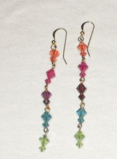 Swarvorski crystal rainbow earrings