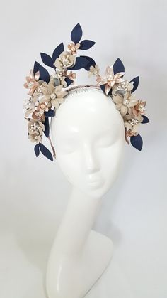 Pearl and petal topper 1 Fascinator Hats, Fascinators, Headpieces, Enchanted Bridal, Flower Headdress, Halo Headband, Fashion Accessories, Hair Accessories, Posh Girl