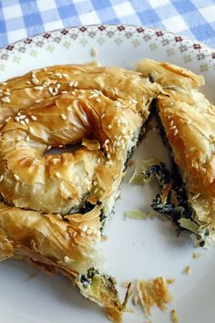 Spanakopita, Greek Spinach Pie with Myzithra Cheese