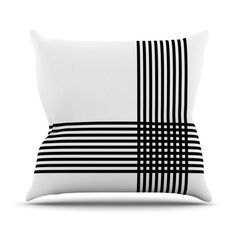 Found it at Wayfair - Krizanje by Trebam Minimal Lines Throw Pillow