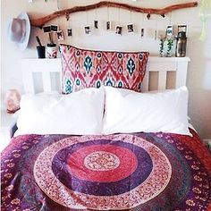 Bedroom Decoration Ideas: Quartos Indie para se inspirar – Miss Mingrone Dream Rooms, Dream Bedroom, Home Bedroom, Bedroom Decor, Bedrooms, Gypsy Bedroom, Girls Bedroom, My New Room, My Room
