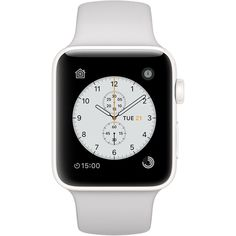 Apple Watch Edition White Ceramic Case with Cloud Sport Band featuring polyvore, women's fashion, jewelry, watches, sport wrist watch, sports jewelry, sport jewelry, ceramic watches and ceramic jewelry