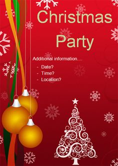 Christmas Party Editable Poster   Free Eyfs  Ks Resources For