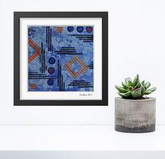 Acrylmalerei - Acrylbild auf Papier **Farbmix Serie 4** - ein Designerstück von SoMa-Art bei DaWanda