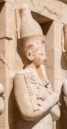 From the temple of Hatshepsut, At Deir El Bahari, on the West Bank of Luxor, Dynasty XVIII, circa 1470 B.C