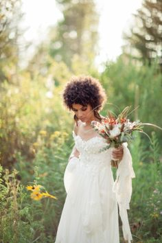 Boho Wedding - Winter 2014 issue of Mingle - Featuring Claire La Faye gowns