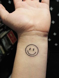 Image result for white ink smiley face tattoo