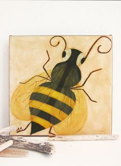Bee Canvas Art Nursery  The Queen Bee by pictureatale on Etsy, $34.99