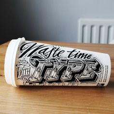 Hand Lettered Coffee Cups by Rob Draper   Downgraf — Designspiration
