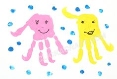 Handprint Octopuses - Click on image to see step-by-step tutorial.