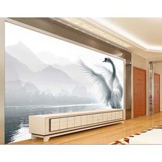 2017 HD Custom Mural Wallpaper 3D Swan Living Room Sofa Backdrop Wall Paper Modern Minimalist Bedroom Wallpaper wall painting 29