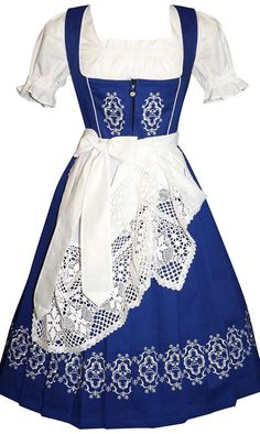 Hey, I found this really awesome Etsy listing at https://www.etsy.com/listing/199572246/womens-long-blue-german-dirndl-dress-2-6