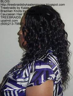 TREE BRAIDS- cornrow tree braids with loose deep hair by KAALE in central New Jersey.  Travel available.