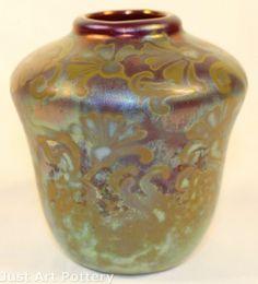 Weller Pottery Sicard line, cabinet vase Antique Pottery, Pottery Art, Weller Pottery, Metallic Luster, Ceramics Ideas, Porcelain Ceramics, Art Nouveau, Cool Art, Glass Art