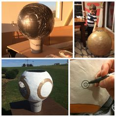 It all started with a yoga ball, newspapers, and a ton of glue.