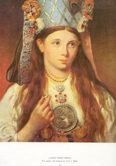 Gustav Adolf Hippius - Estonian bride - 1852