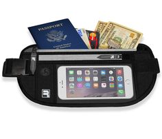 Amazon.com: RFID Money Belt Passport Holder Wallet Waist Pouch Fanny Pack Cell Phone Case Sleeve Strap Blocking Hidden Stash Bag Sports Fitness Runner Running iPhone 6 plus 6s 5 Samsung Galaxy S7 S6 S5 Edge: Sports & Outdoors