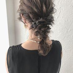 YUJI / LIICHIさんのスナップ #ナチュラル #大人かわいい #デート #ゆるふわ #ヘアアレンジ #ミディアム #結婚式 Hair Arrange, Warm Outfits, Beautiful Children, Face Care, Cute Hairstyles, How To Memorize Things, Dreadlocks, Bride, Hair Styles