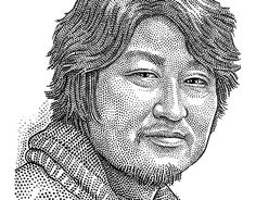Stipple portrait of Kang-ho Song (송강호) by Ekaterina Shulzhenko