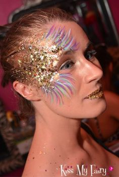 Glitter and Feathers teamed with Glitter Lips