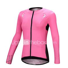 SANTIC Cycling Jersey Women's Long Sleeve Bike Jersey Tops Quick Dry Ultraviolet Resistant Breathable Terylene SolidSpring Summer 2017 - $29.99