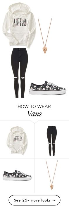 """Untitled #1293"" by chicace-9 on Polyvore featuring Aéropostale, Topshop, Vans and Pamela Love"