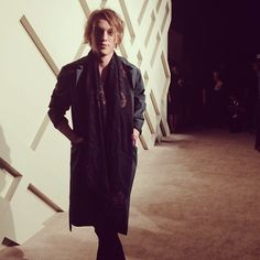 British actor Jamie Campbell Bower arrives to celebrate London in Shanghai with #Burberry