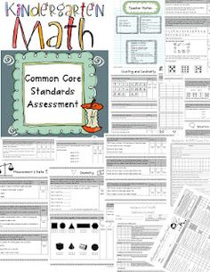 Common Core Assessments: Kindergarten Math