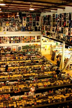 AMOEBA MUSIC record store in Hollywood, California...