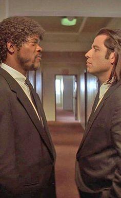 "Samuel L. Jackson and John Tralvota in ""Pulp Fiction"""