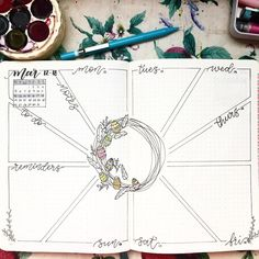 Bullet Journal Weekly Spread Ideas You Can Copy Create your bullet journal weekly spread with a little inspiration. Some of these bujo setup ideas are easy for beginners and look AMAZING. Bullet Journal Calendrier, Bullet Journal Lettering Ideas, Bullet Journal Notebook, Bullet Journal School, Bullet Journal Themes, Bullet Journal Inspo, Bullet Journal Spread, Bullet Journal Ideas Pages, Book Journal