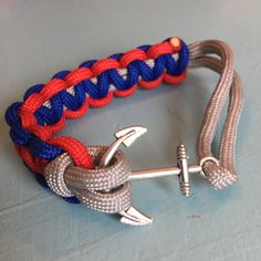 7 NFL style paracord bracelet with anchor clasp by Upyouranchor