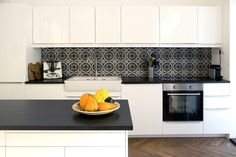 madeira cement tiles in dark colours